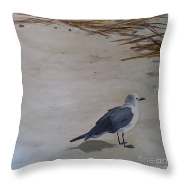 Bay Watch Throw Pillow by Carla Dabney