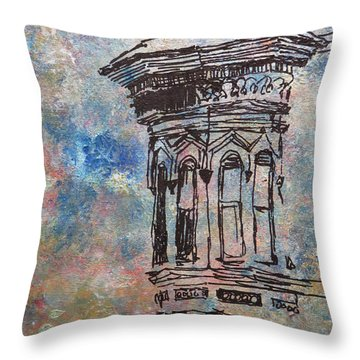 Bay Window Throw Pillow by John Fish