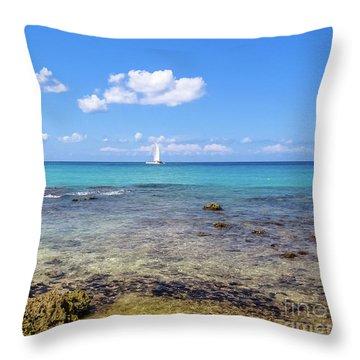 Bayahibe Coral Reef Throw Pillow