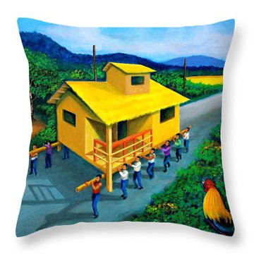 Bayanihan Throw Pillow