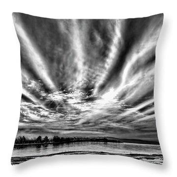 Bayfarm Island Sunrise Throw Pillow