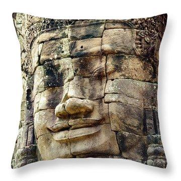 Bayon 2 Throw Pillow by Werner Padarin