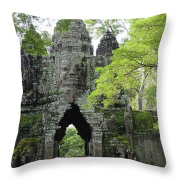 Bayon Gate Throw Pillow