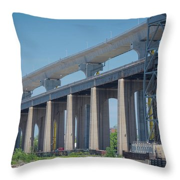 Bayonne Bridge Raising #5 Throw Pillow