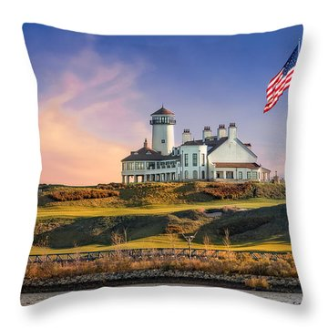 Bayonne Golf Club Throw Pillow