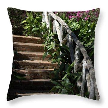Bayou Bend Gardens Throw Pillow