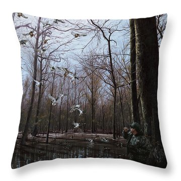 Bayou Meto Morning Throw Pillow