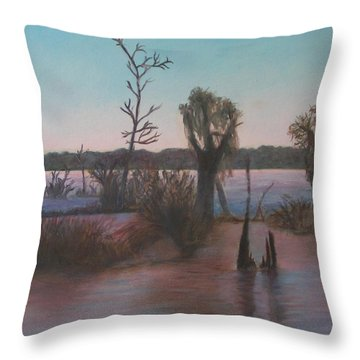 Bayou Morning Throw Pillow