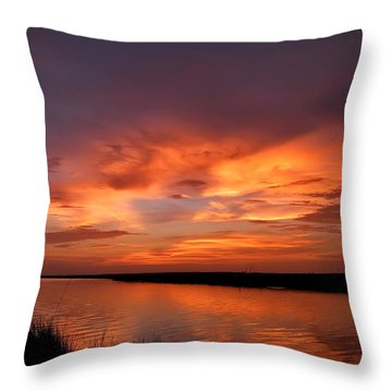 Bayou Sunset Throw Pillow