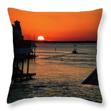 Bayou Vista Sunset Throw Pillow