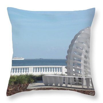Bayshore Boulevard Sculpture Throw Pillow