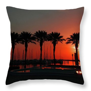 Bayshore Drive Harborwalk Throw Pillow