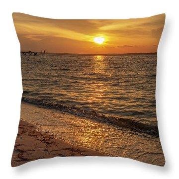 Bayside Sunset Throw Pillow