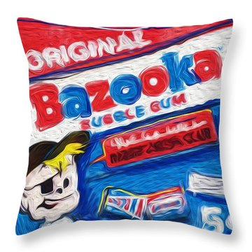 Bazooka Joe Throw Pillow by Russell Pierce
