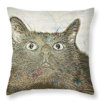 Bb Gazing Throw Pillow