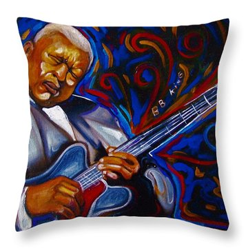 b.b KING Throw Pillow by Emery Franklin