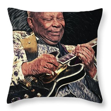 B.b. King II Throw Pillow by Taylan Apukovska