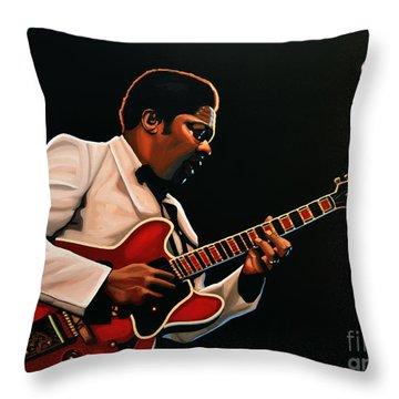 B. B. King Throw Pillow
