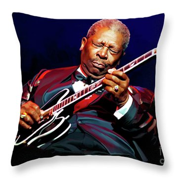 Bb King Throw Pillow by Paul Tagliamonte