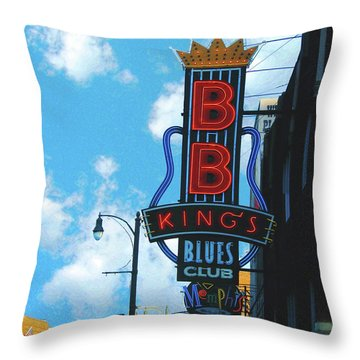 Bb Kings Throw Pillow by Lizi Beard-Ward