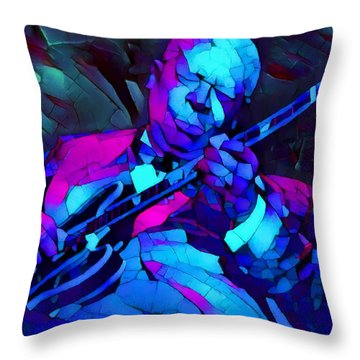 Bb Sings The Blues Throw Pillow