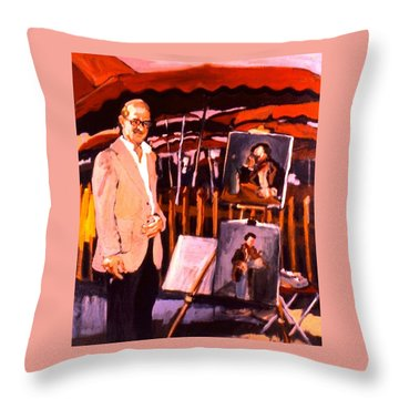 Throw Pillow featuring the painting B B And G by Les Leffingwell