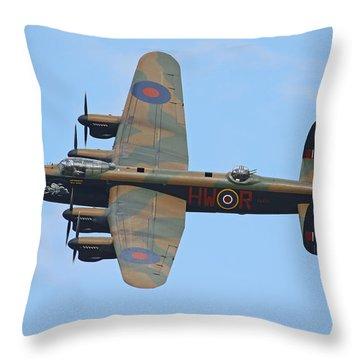 Bbmf Lancaster Bomber Throw Pillow by Ken Brannen