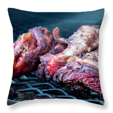 Bbq Beef 1 Throw Pillow