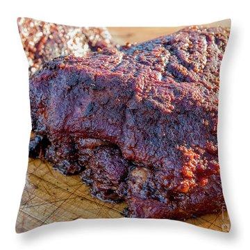 Bbq Beef 2 Throw Pillow