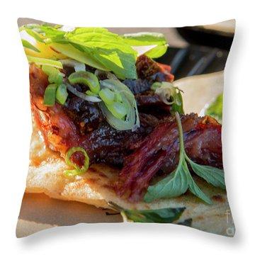 Bbq Beef 3 Throw Pillow
