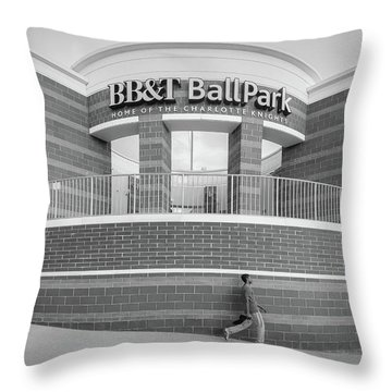 Bbt Ballpark Building Throw Pillow