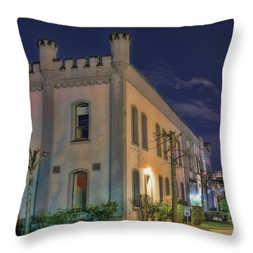 Throw Pillow featuring the mixed media B.c.penitentiary by Jim  Hatch