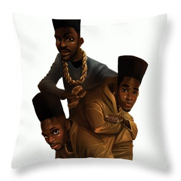 Bdk White Bg Throw Pillow by Nelson Dedos Garcia