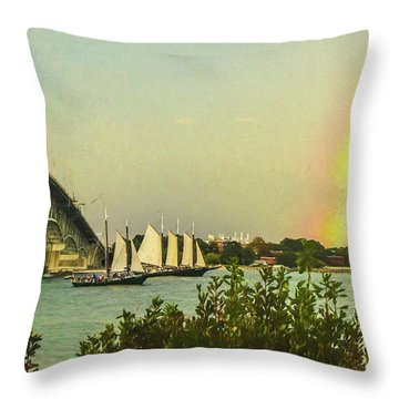 Throw Pillow featuring the photograph Be A Rainbow by Ola Allen