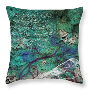 Be As A Bird Throw Pillow
