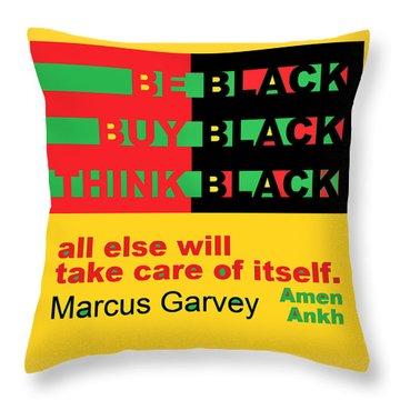 Be Black Rbg Throw Pillow