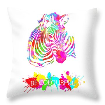 Be Colourful Throw Pillow