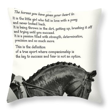 Be Equestrian Quote Throw Pillow