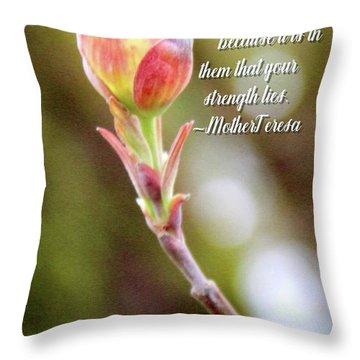 Be Faithful By Mother Teresa Throw Pillow