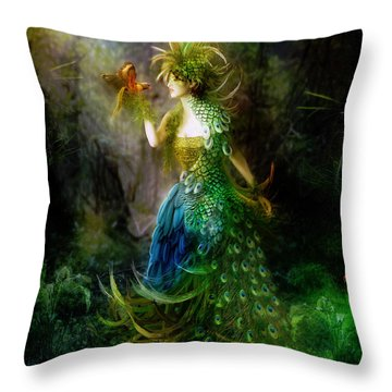 Be Free Little One Be Free Throw Pillow by Mary Hood