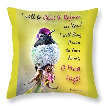 Be Glad And Rejoice Throw Pillow