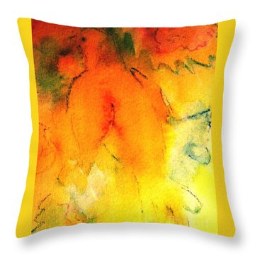 Throw Pillow featuring the painting Be Harmless As Doves by Hazel Holland