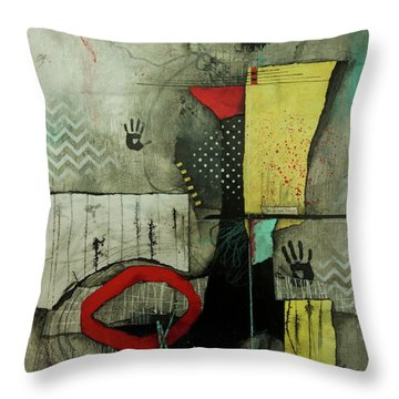 Be In Our Forest  Throw Pillow