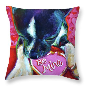 Throw Pillow featuring the painting Be Mine by Robert Phelps