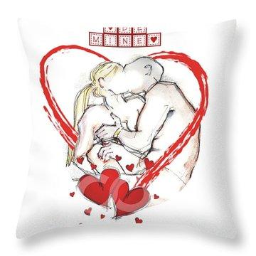 Be Mine, Valentine - Valentine's Day Throw Pillow