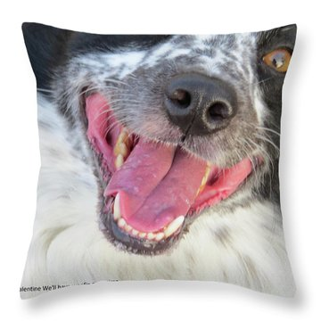 Be My Valentine Throw Pillow by Aaron Martens