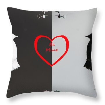 Throw Pillow featuring the photograph Be My Valentine by Daniel Hebard