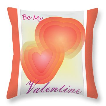 Throw Pillow featuring the digital art Be My Valentine by Sherril Porter