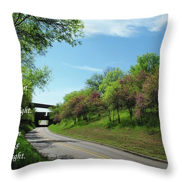 Be Not Afraid Throw Pillow by Robyn Stacey