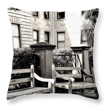 Be Seated Throw Pillow by Wallaroo Images